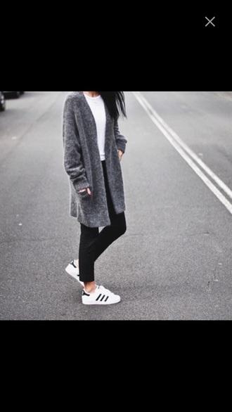 blouse long gris