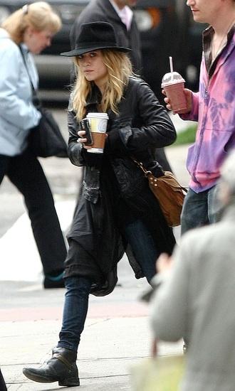 olsen sisters blogger hat jacket top jeans