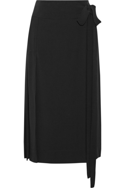 MARNI skirt wrap skirt pleated black