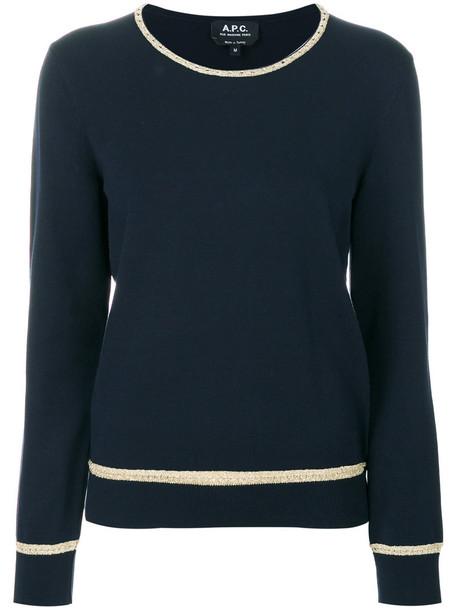 A.P.C. sweater women blue