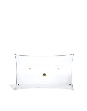 Klear Klutch | Klear Klutch Small Clear Transparent Clutch Bag at ASOS