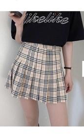 skirt,girly,girl,girly wishlist,plaid,plaid skirt,burberry