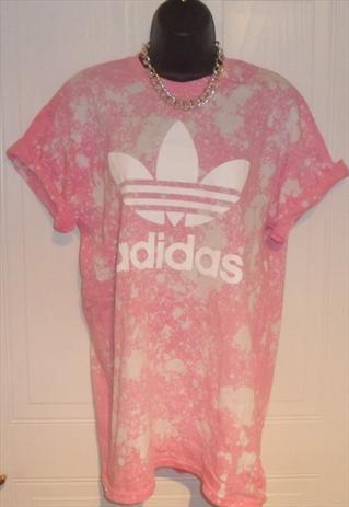 unisex customised adidas grunge acid wash tie dye t shirt M   mysticclothing   ASOS Marketplace