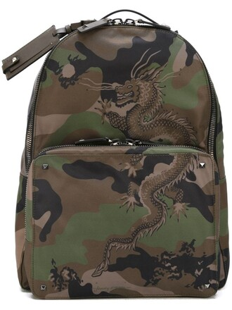 camouflage backpack green bag