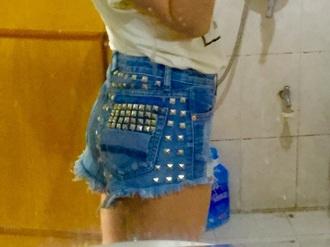 shorts jeans denim rivet