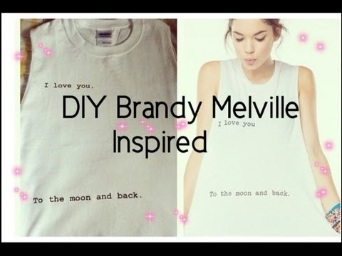 "DIY ""I love you to the moon and back"" shirt (Brandy Melvill - YouTube"