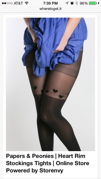 tights black pantyhose with hearts