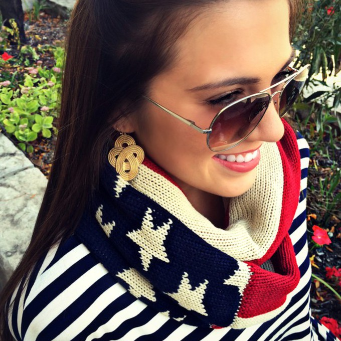 scarf knitwear american flag american flag scarf soft red white blue red white and blue scarf red