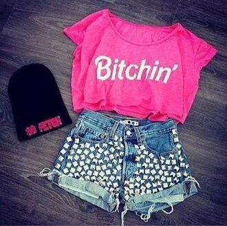 shirt pink skirt hat