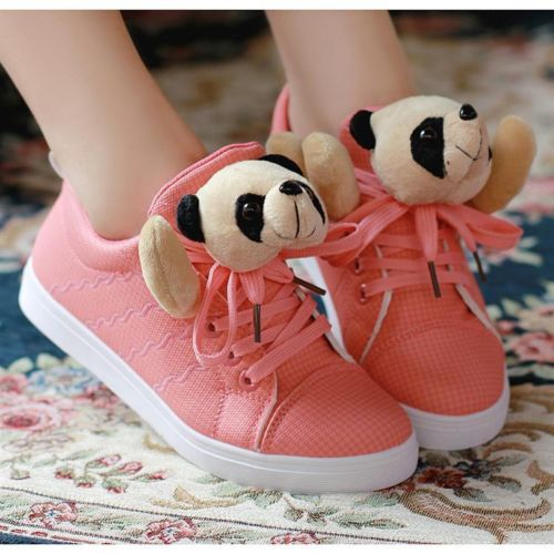 New Arrive Cute Womens Lace Up High Top Ankle Sneaker Shoes Tennis Panda Shoes | eBay