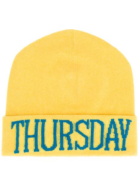 hat beanie yellow orange