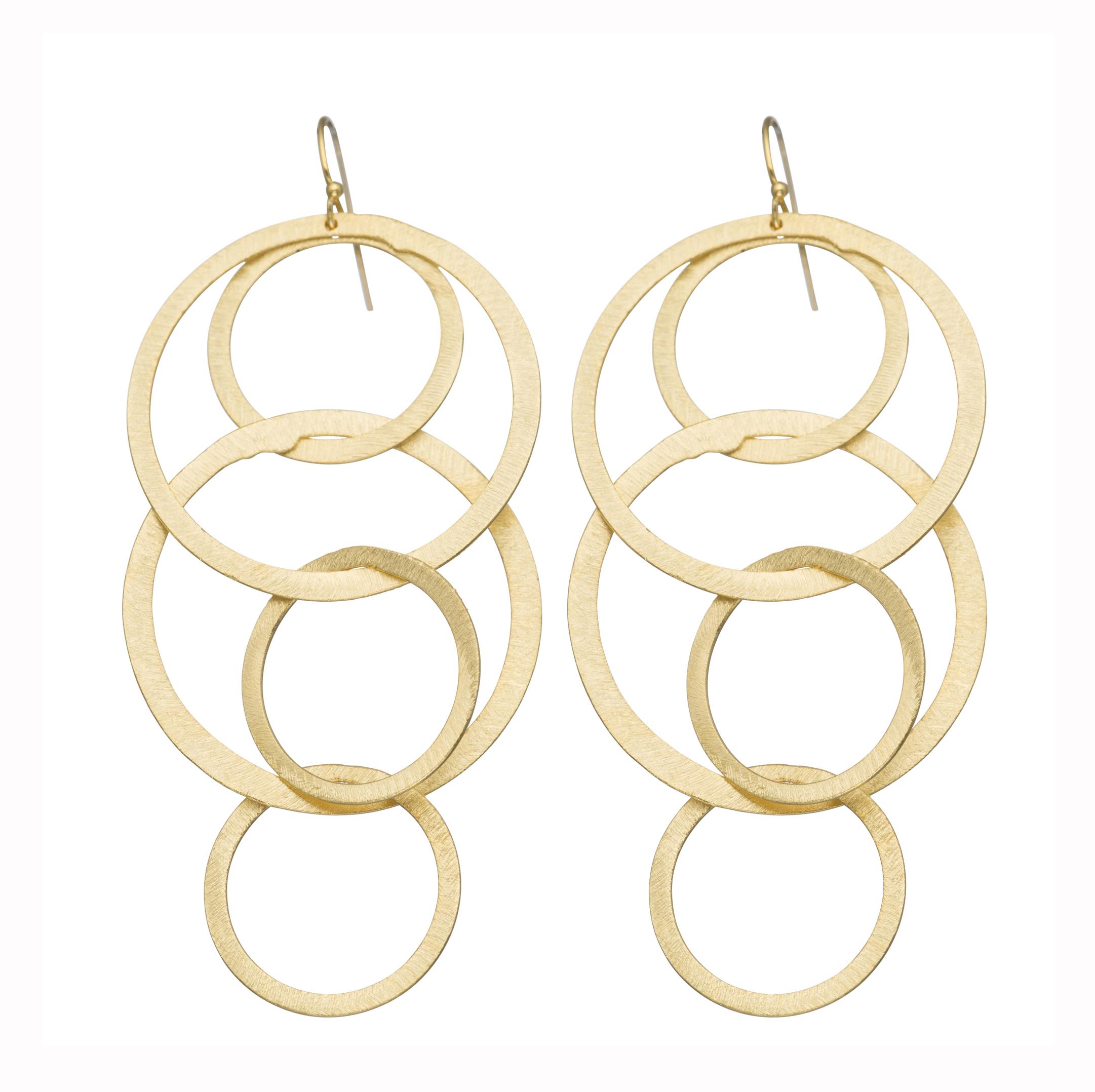 Jumbo Circle Washer Earrings Morra Designs