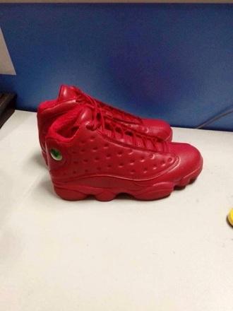 shoes jordan shoes jordan13reto red shoes