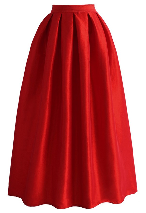 skirt chicwish la diva pleated maxi full skirt