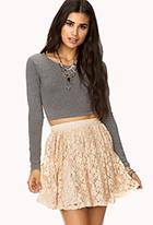 Romantic floral lace skirt