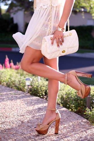 shoes wedges bow nude sandals cute high heels bag woodheels high heels wood summerheels