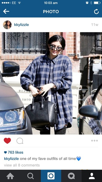 kylie jenner flannel shirt