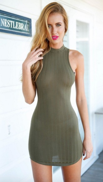 dress camouflage sexy sexy dress cute cute dress blonde hair green camo green olive green