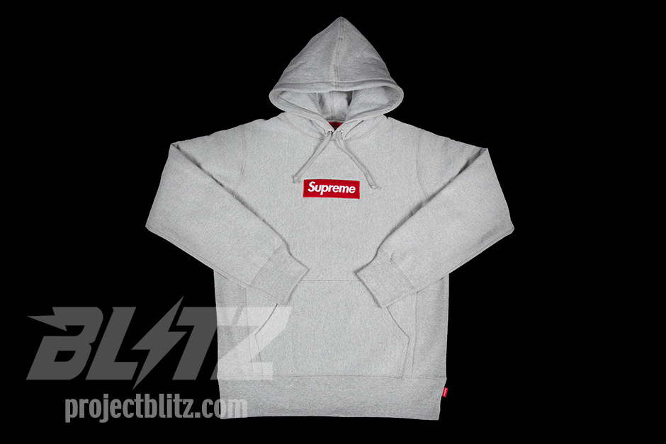 Supreme Box Logo Pullover Hoodie Size Small RARE Grey FW13 Hoody | eBay