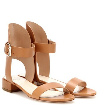 sandals leather sandals leather brown shoes