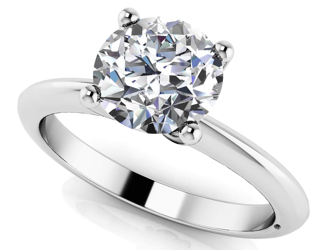 Timeless Four Prong Solitaire-MS252-A