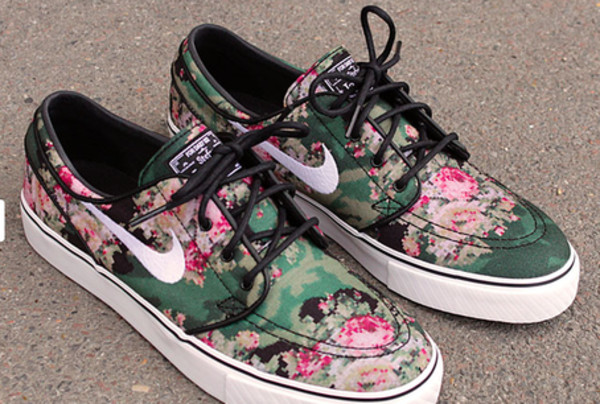 shoes nike nike sb floral nike sb