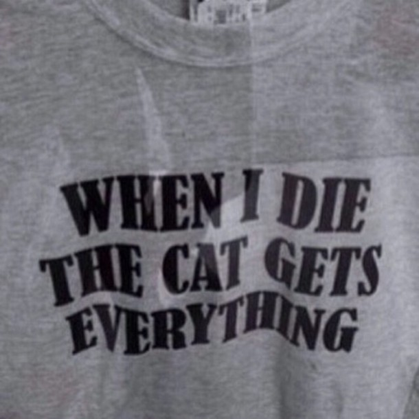 t-shirt cats funny shirt quote on it