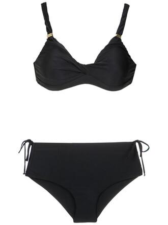 bikini women spandex hot black swimwear