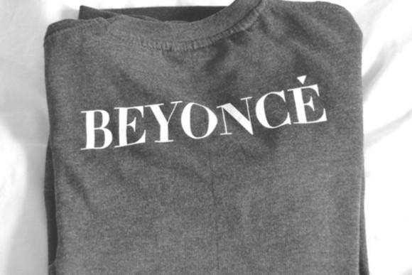 beyoncé gray t-shirts shirt white beyoncé t-shirt grey celebrity sweater sweat black beyoncé shirt