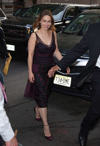 dress lace dress emilia clarke midi dress see through dress see through sandals