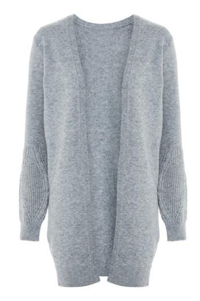 Topshop cardigan knitted cardigan cardigan grey sweater