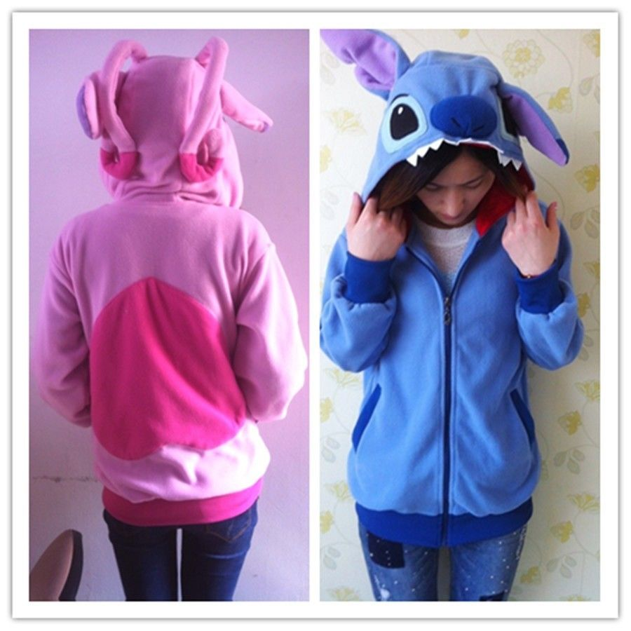 KIGURUMI Disney Lilo Stitch Blue Hoodie Cosplay Coat Jacket | eBay