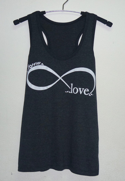 tank top singlet infinity shirts love tank top forever tank tops