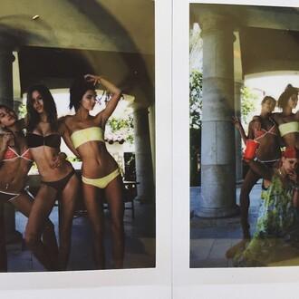 swimwear bikini coachella instagram kendall jenner two-piece bikini top bikini bottoms