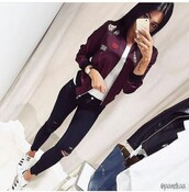 jacket,outfit,outfit idea,summer outfits,fall outfits,cute outfits,winter outfits,spring outfits,date outfit,party outfits,clothes,fashion,style,stylish,streetwear,streetstyle,clubwear,trendy,bomber jacket,winter jacket,spring jacket,long sleeves,white top,white shirt,shirt,top,summer top,summer shoes,summer pants,summer shirt,cute top,cute shoes,cute shirt,party shoes,sneakers,white sneakers,low top sneakers,adidas,adidas shoes,adidas superstars,adidas originals,pants,black high waisted pants,black pants,skinny pants,high waisted pants,jeans,ripped jeans,skinny jeans,black jeans,high waisted jeans,black ripped jeans,watch