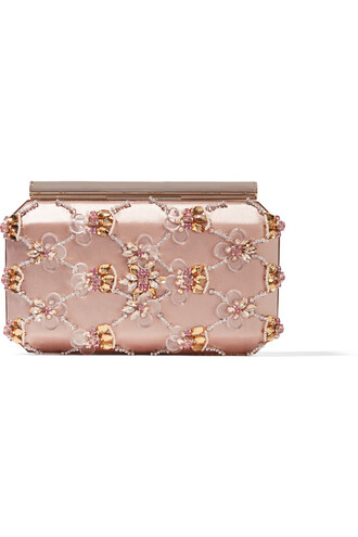 embellished clutch satin blush bag