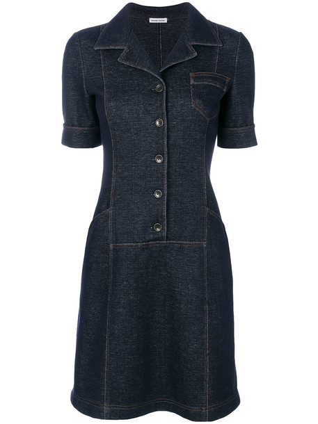 dress denim dress denim women spandex cotton blue knit