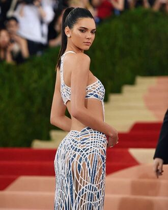 dress cut-out dress kendall jenner celebrity printed dress sexy dress model natural makeup look