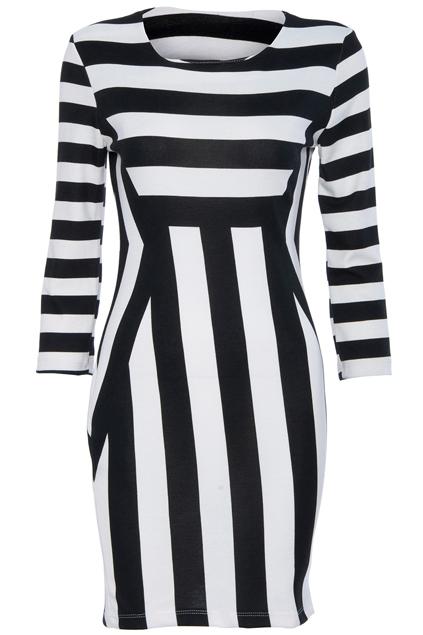 ROMWE | Stripe Skinny Dress, The Latest Street Fashion