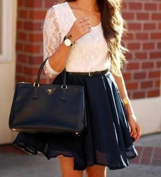 bag jewels prada blouse