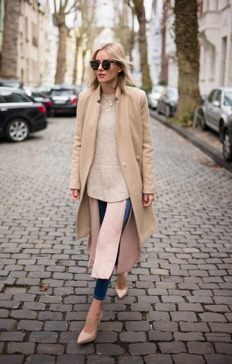 lisa rvd blogger all nude everything camel coat nude nude shoes wool coat beige coat winter look winter outfits