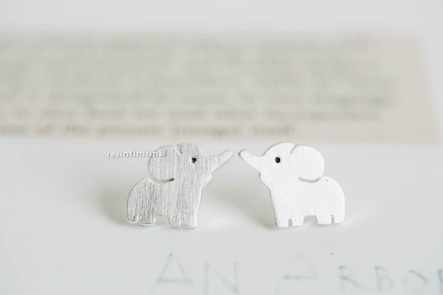 cute elephant earrings, E116R