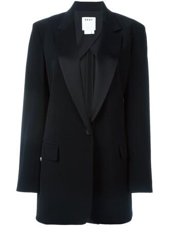 blazer long black jacket