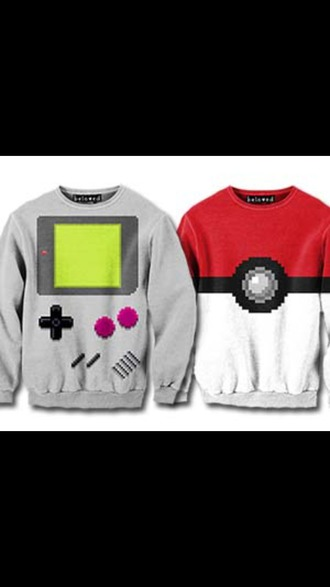 sweater pokemon gameboy his and hers