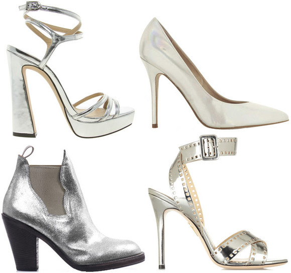 asos shoes silver high heels platform block heel