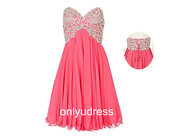 dress,chiffon dress,blush dress,empire dress,homecoming dress,beaded dress