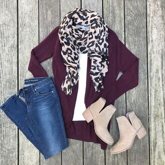 thebudgetbabe blogger cardigan t-shirt scarf shoes jeans