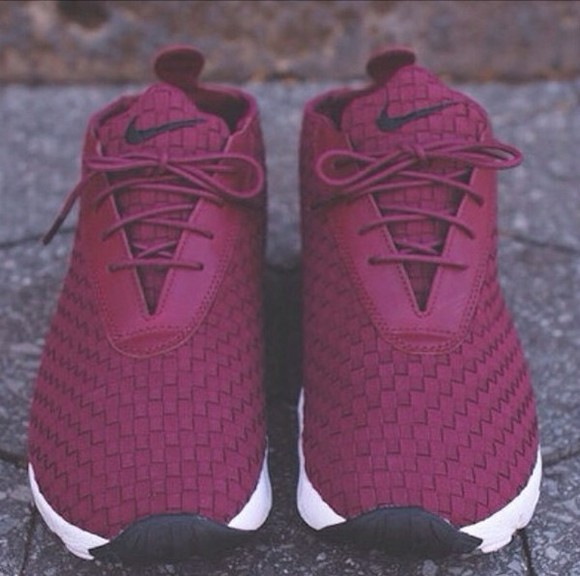 nike sneakers nike running shoes nike air nike shoes women running shoes roshe runs knitwear burgundy maroon/burgundy