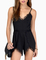 Black spaghetti strap with lace jumpsuit