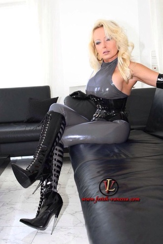 shoes high heels boots sexy leather black latex grey catsuit corset fetish breasts